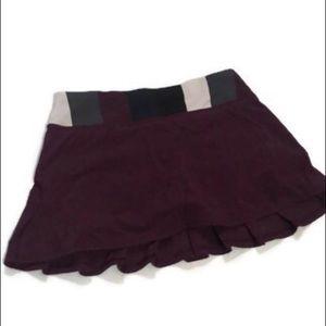 Lululemon Pace Setter Skirt plum pow stripe rare